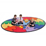 ABC Rainbow Jigsaw Carpet